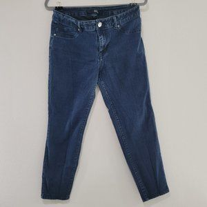 1822 Denim Stretch Cropped Dark Wash Jeans Size 14